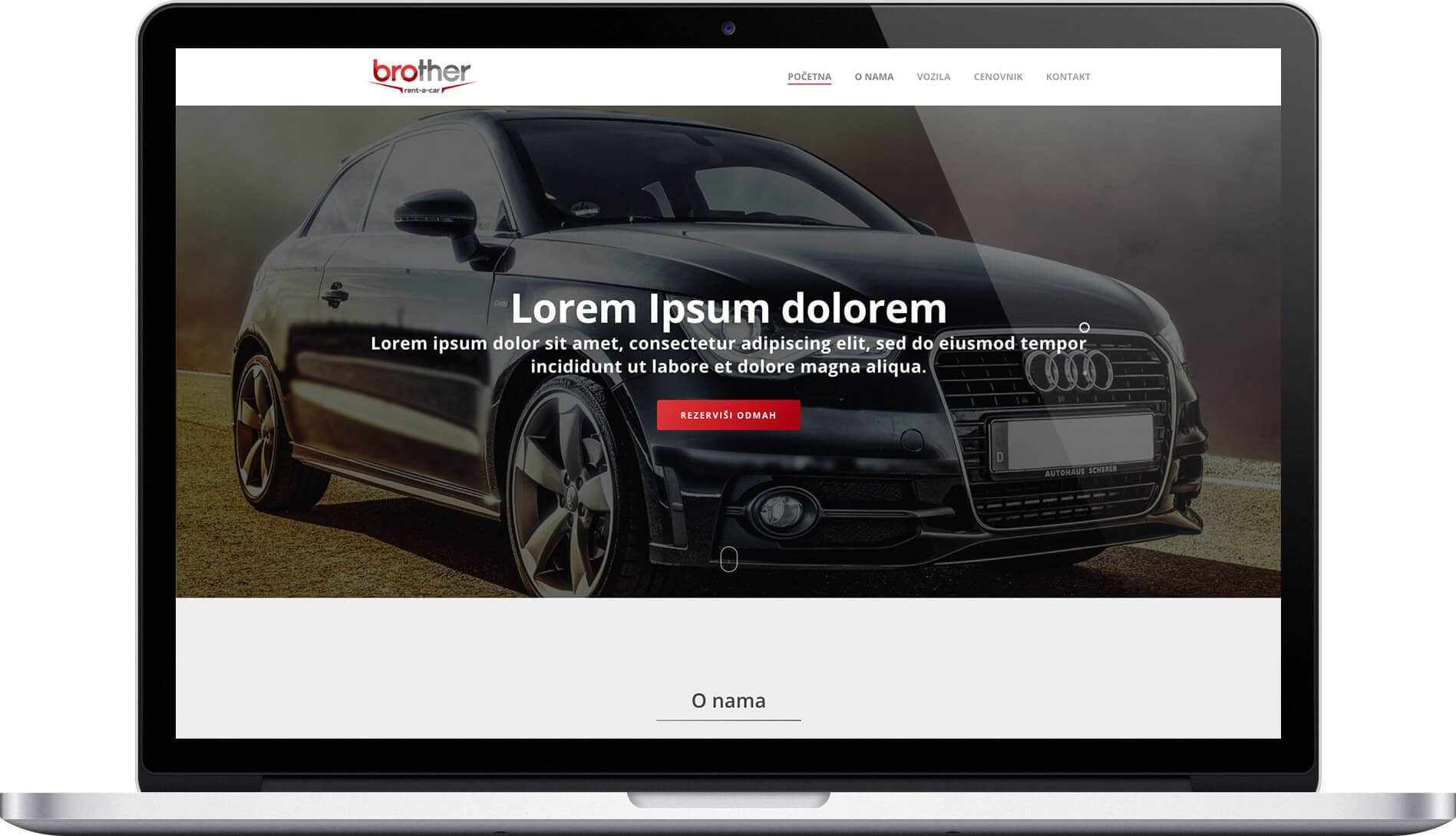 Renta car Agency website