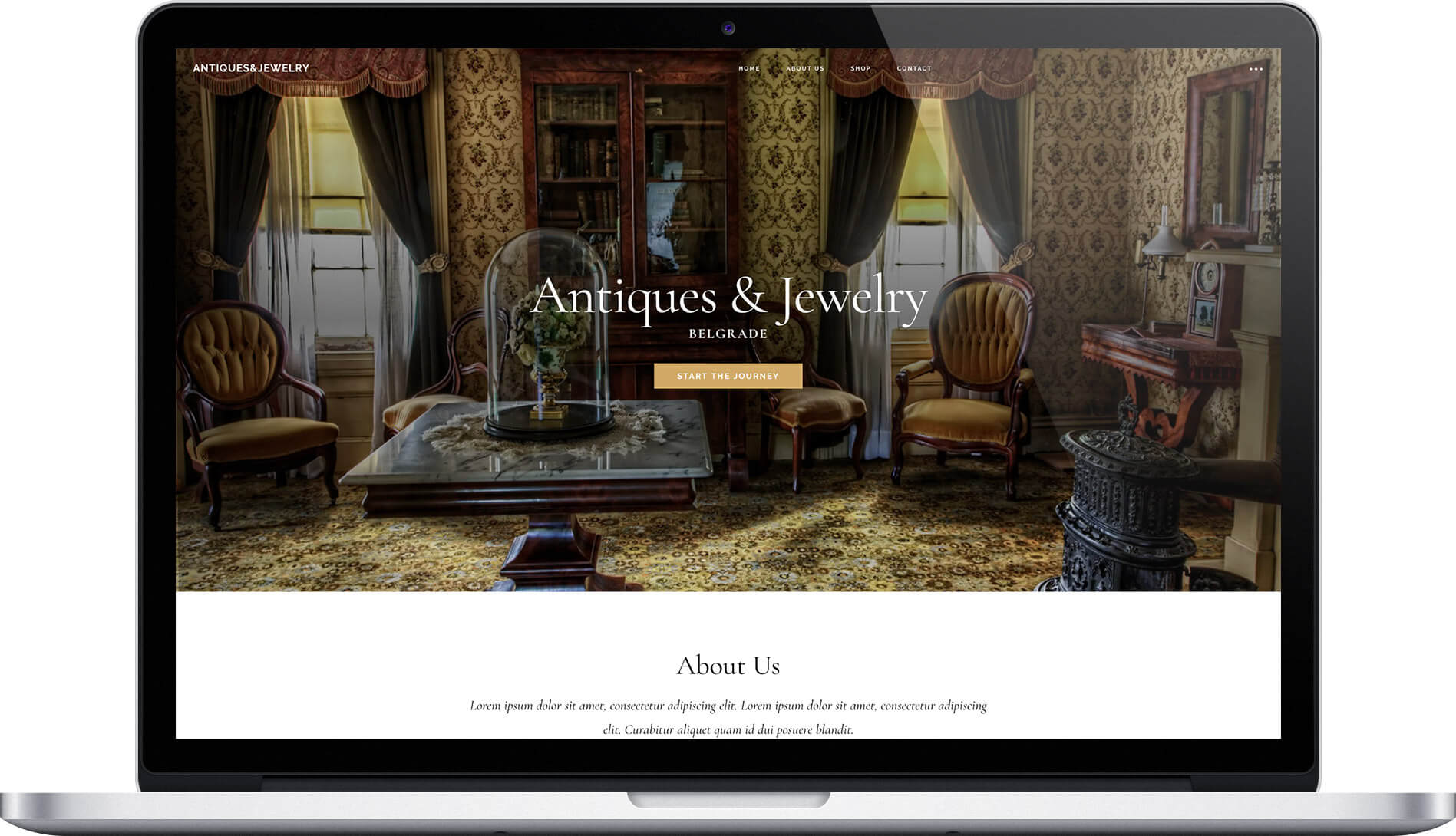 Ecommerce shop for Antique & Jewelry