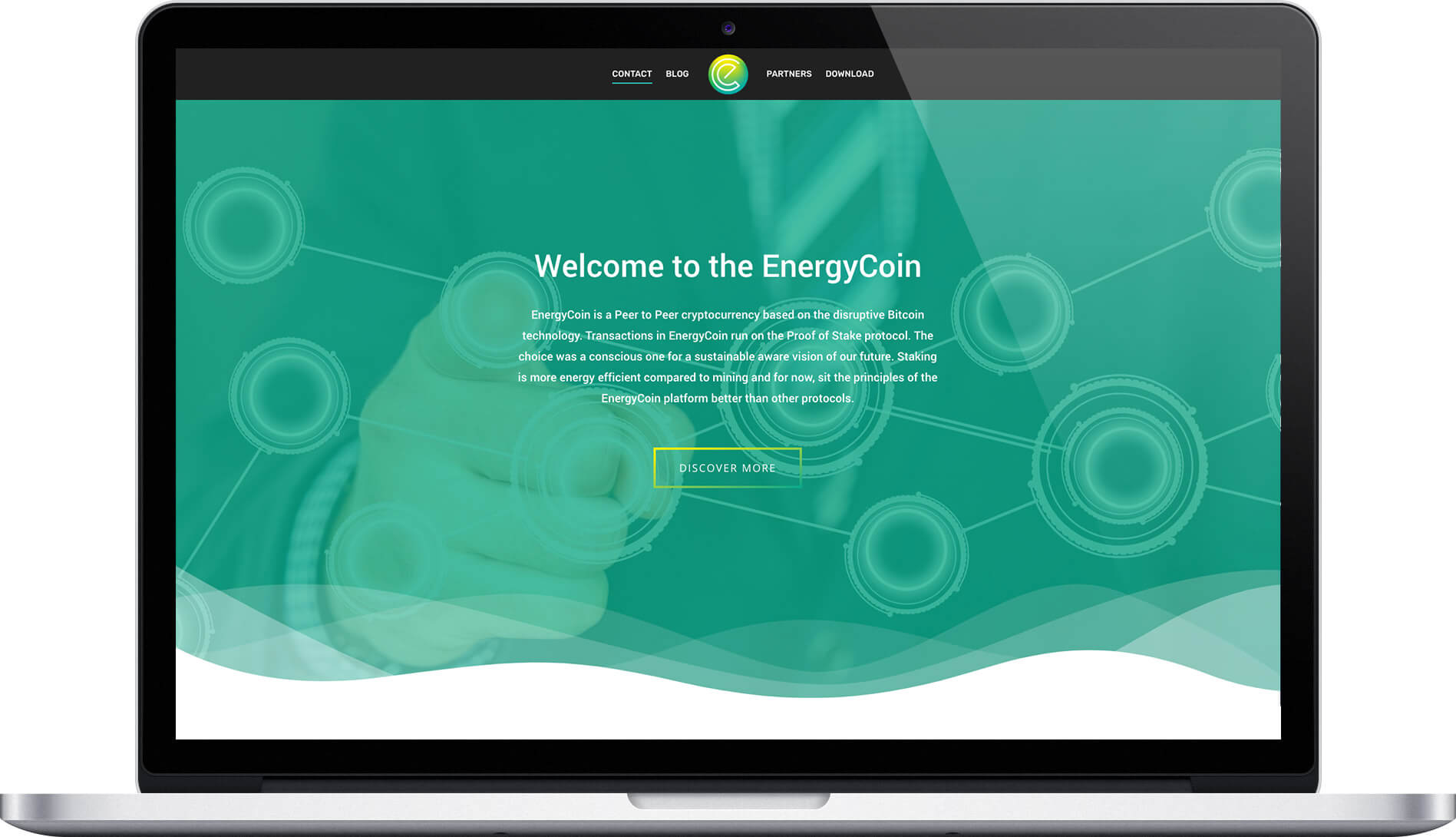 EnergyCoin - website for cryptocurrency
